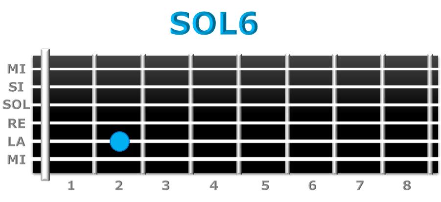 SOL6 guitarra