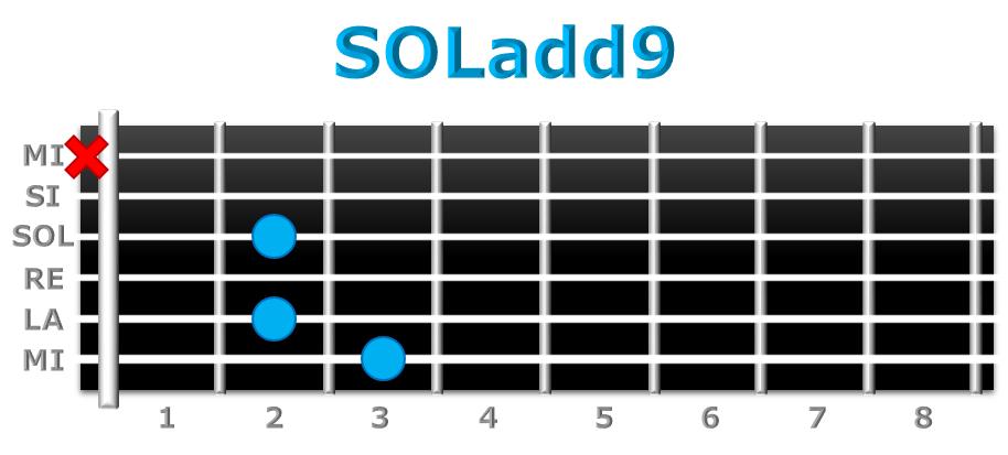 SOLadd9 guitarra