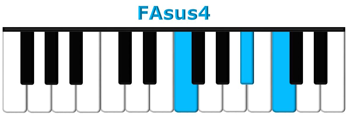 FAsus4 piano