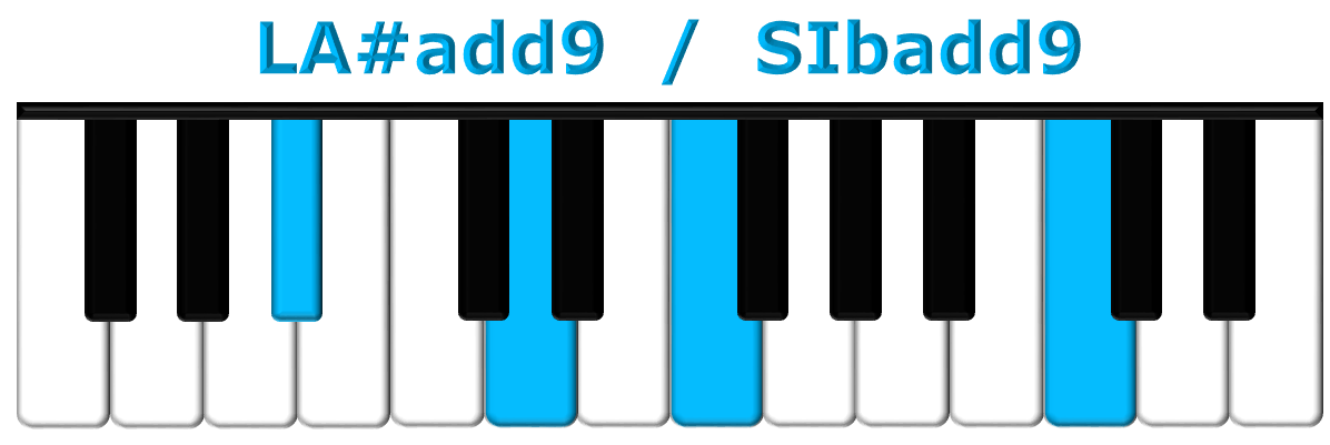 LA#add9 piano
