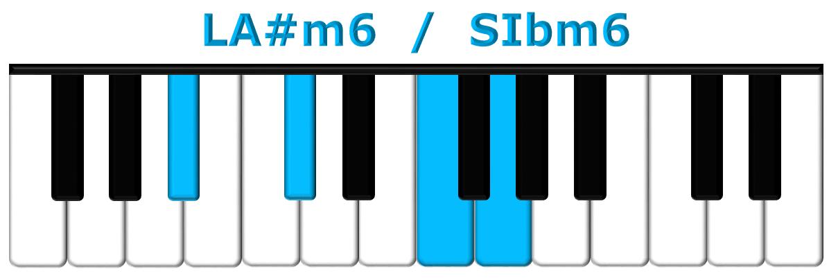 LA#m6 piano