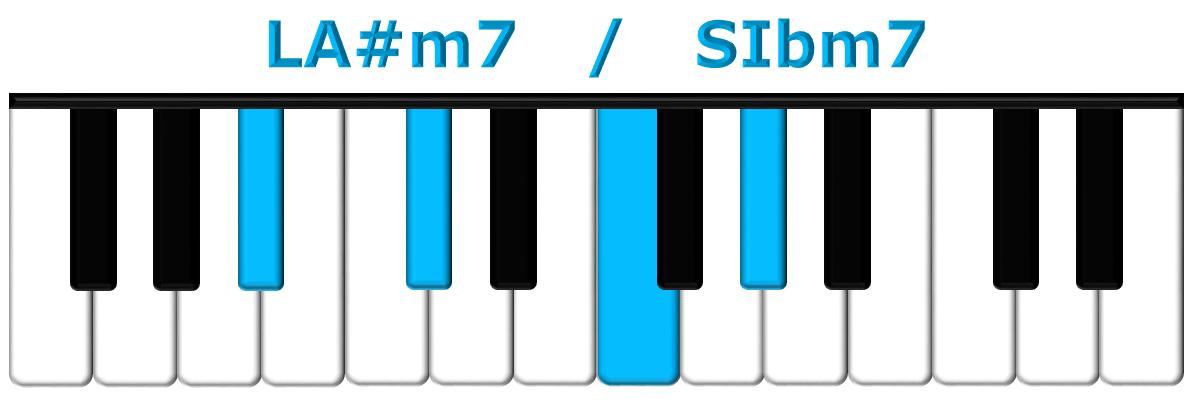 LA#m7 piano