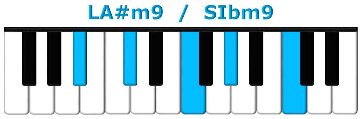 LA#m9 piano