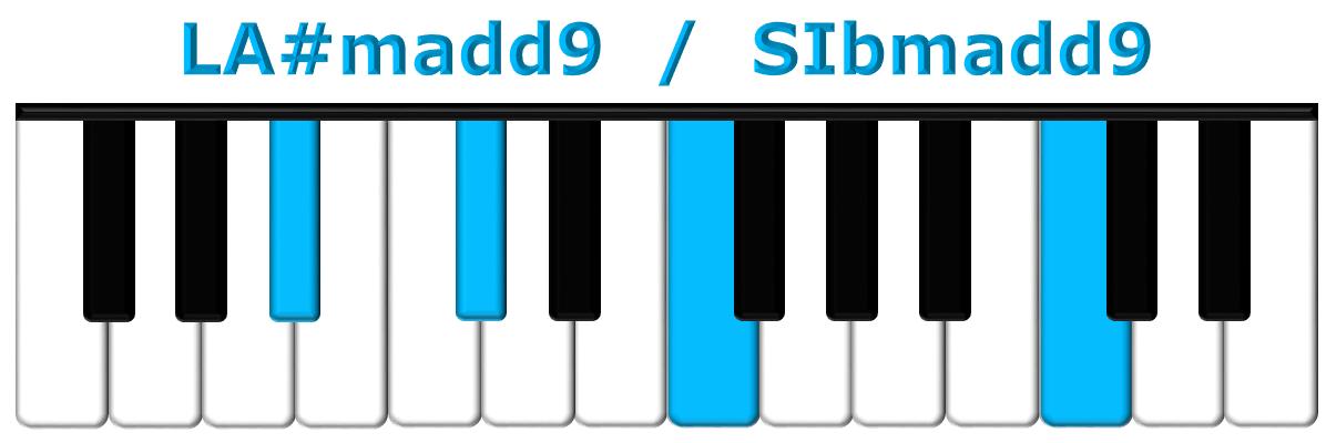 LA#madd9 piano