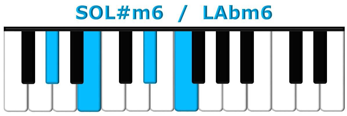 SOL#m6 piano
