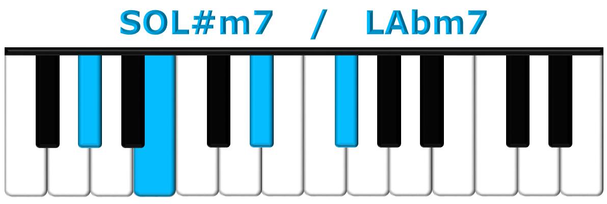SOL#m7 piano