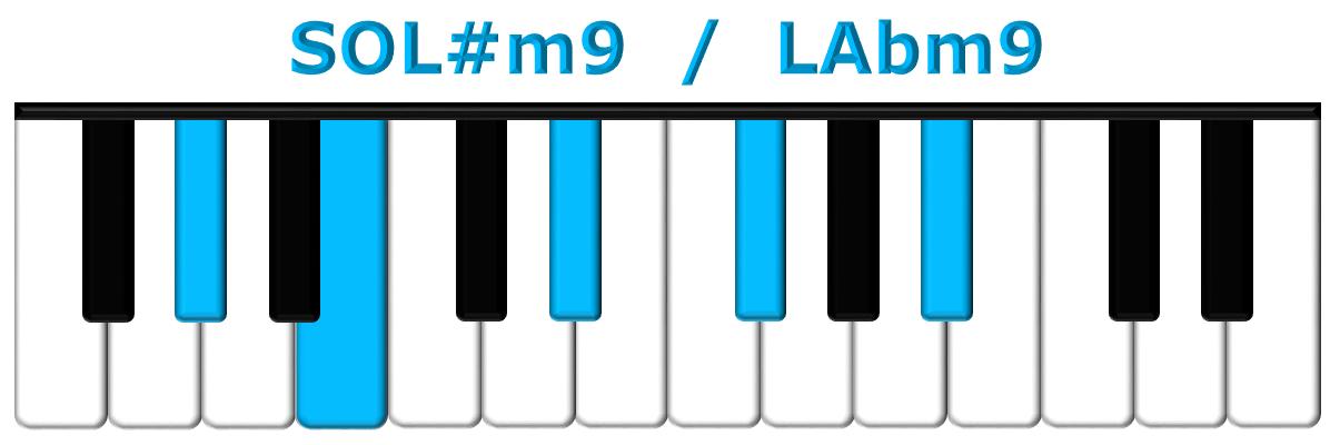 SOL#m9 piano