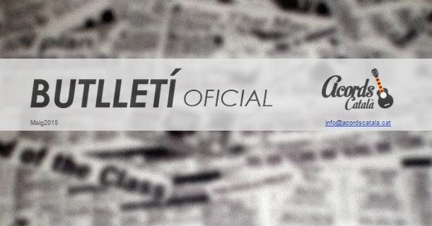 Primer número del Butlletí mensual. Subscriu-te!
